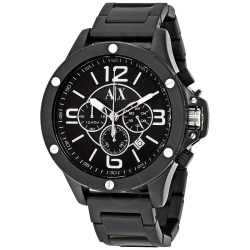 Reloj Armani Exchange Ax1503 48mm Acero Negro